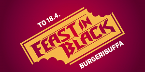 Feast in Black -burgeribuffa 18.4.