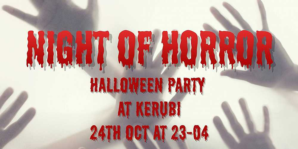 Night Of Horror - Halloween Party by Tombolo Ry.