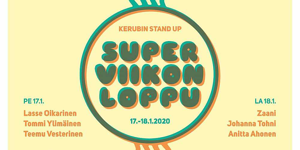 Kerubin Stand Up Superviikonloppu 2020